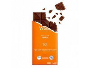 tablette chocolat noir ibaria orange