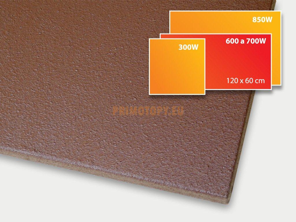 ECOSUN 600 U+ h sálavý topný panel 600W (hnědý)