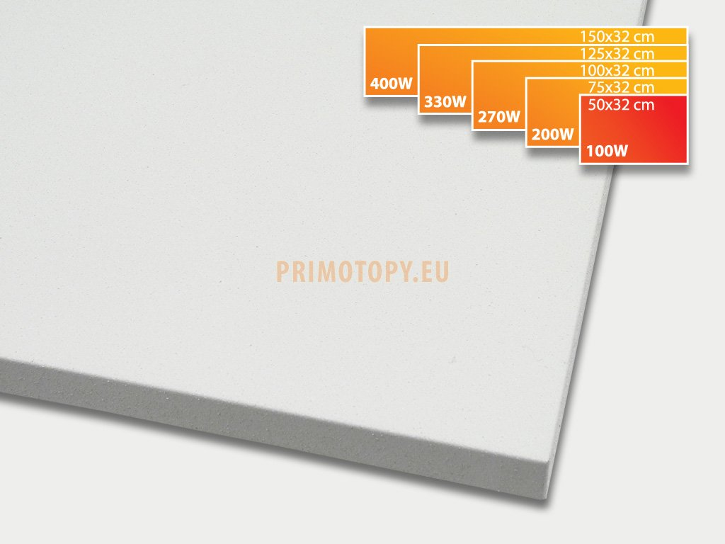 ECOSUN 100 K+ sálavý topný panel 100W (bílý)