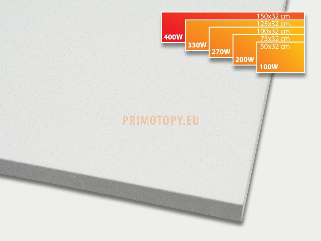ECOSUN 400 K+ sálavý topný panel 400W (bílý)