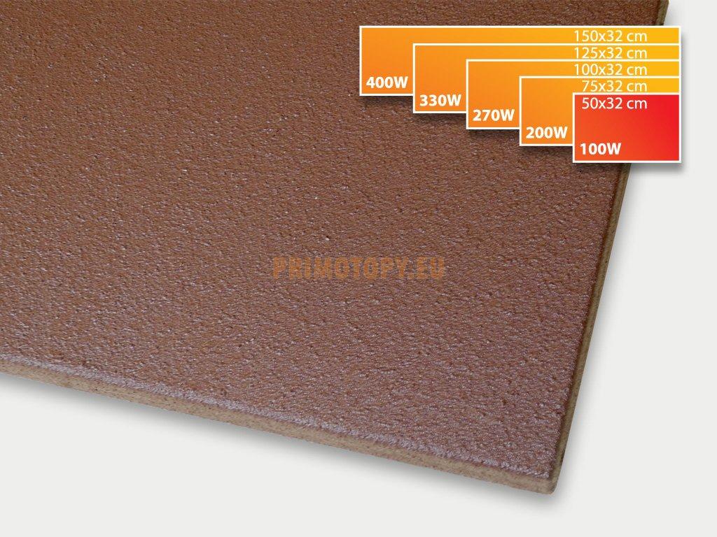 ECOSUN 100 K+ sálavý topný panel 100W (hnědý)