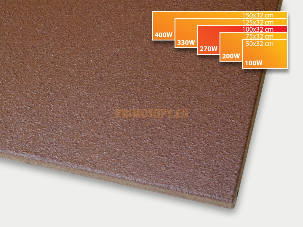 ECOSUN 270 K+ sálavý topný panel 270W (hnědý)
