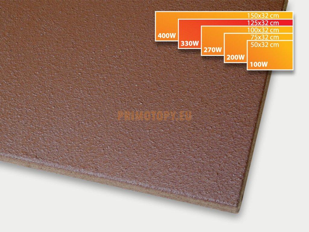 ECOSUN 330 K+ sálavý topný panel 330W (hnědý)