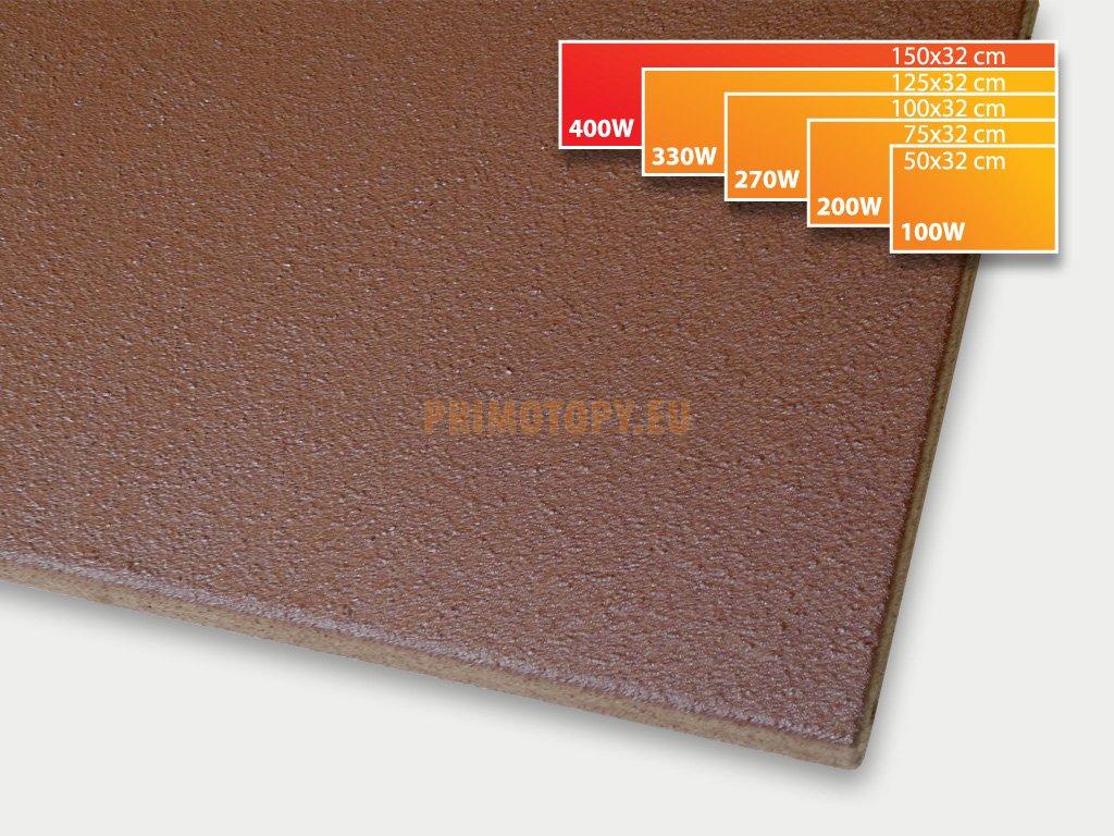 ECOSUN 400 K+ sálavý topný panel 400W (hnědý)