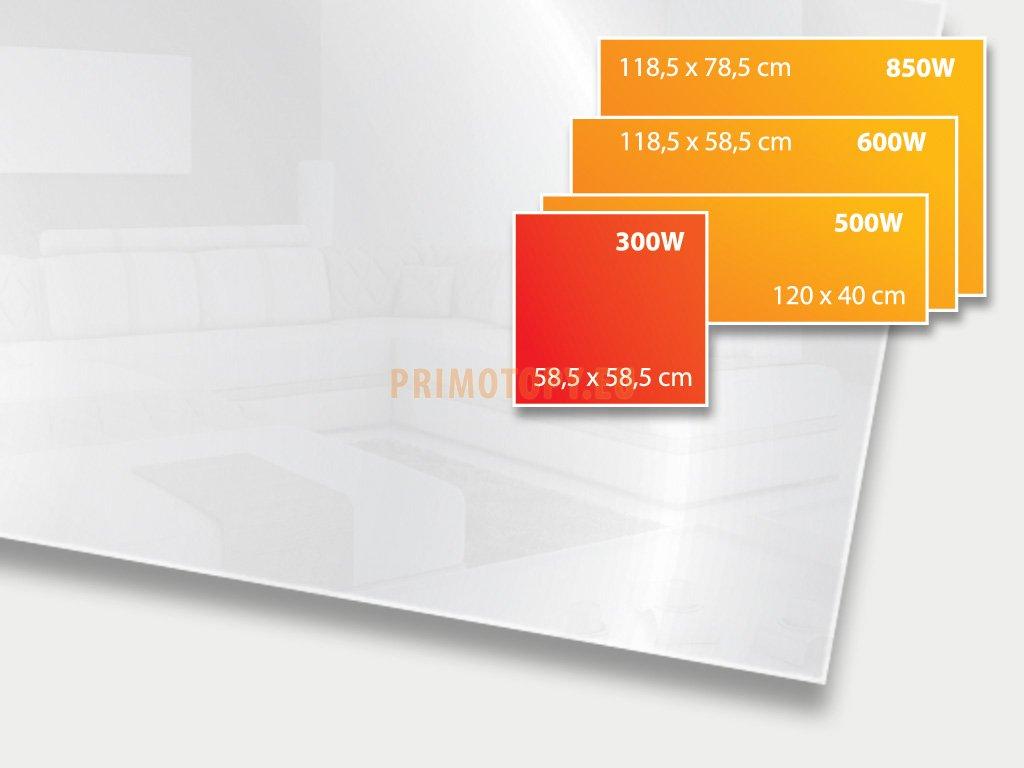 ECOSUN 300 GS Mirror, sálavý skleněný panel 300 W