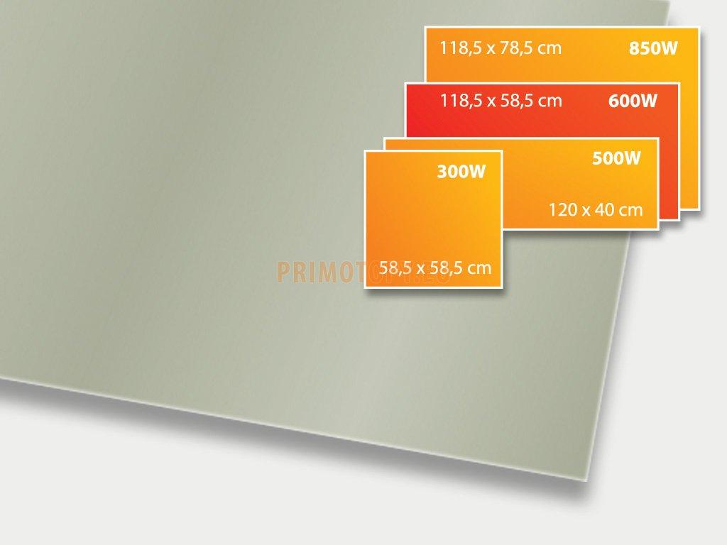 ECOSUN 600 GS Basalt, sálavý skleněný panel 600 W