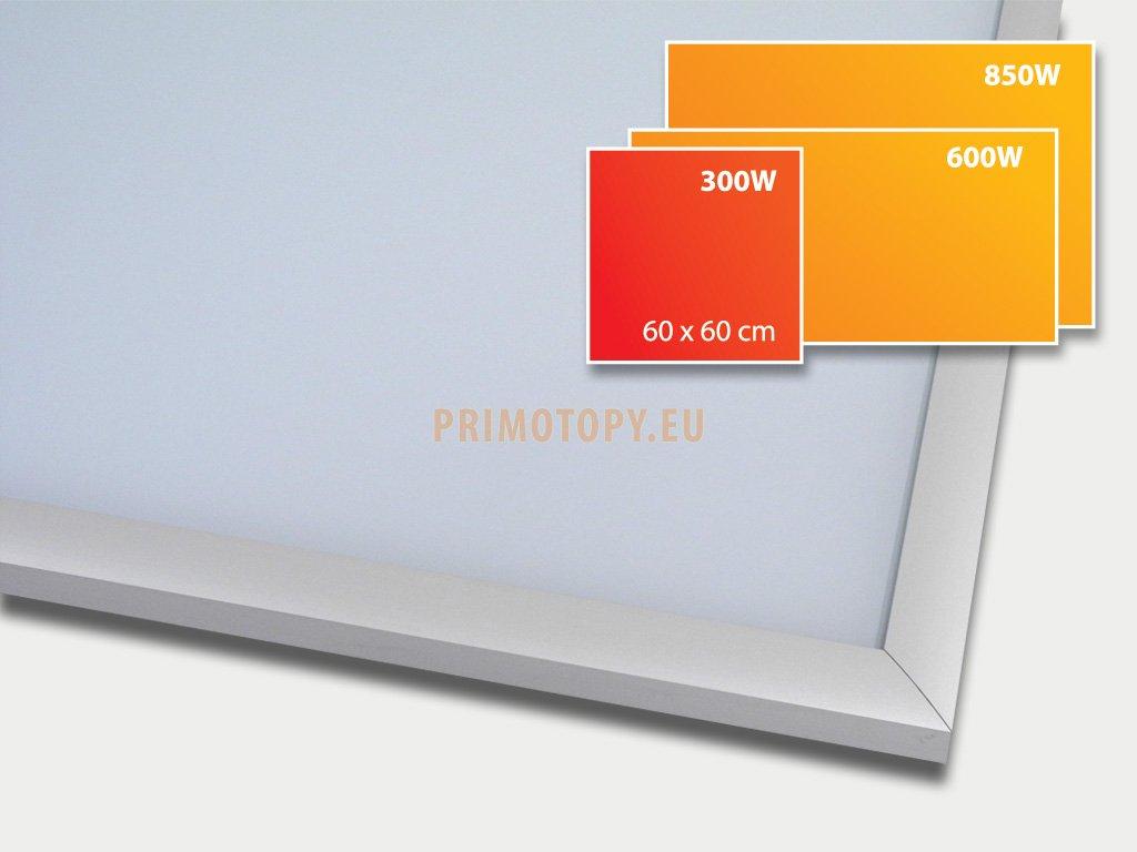 ECOSUN 300 G White, sálavý skleněný panel 300 W