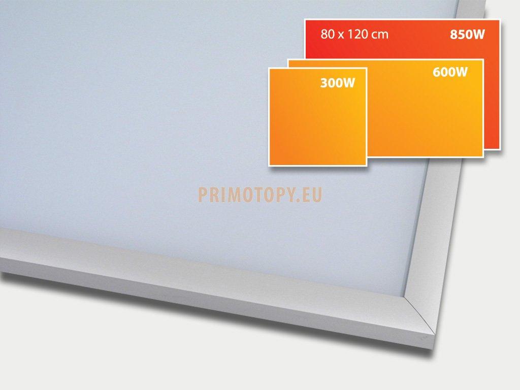 ECOSUN 850 G White, sálavý skleněný panel 850 W