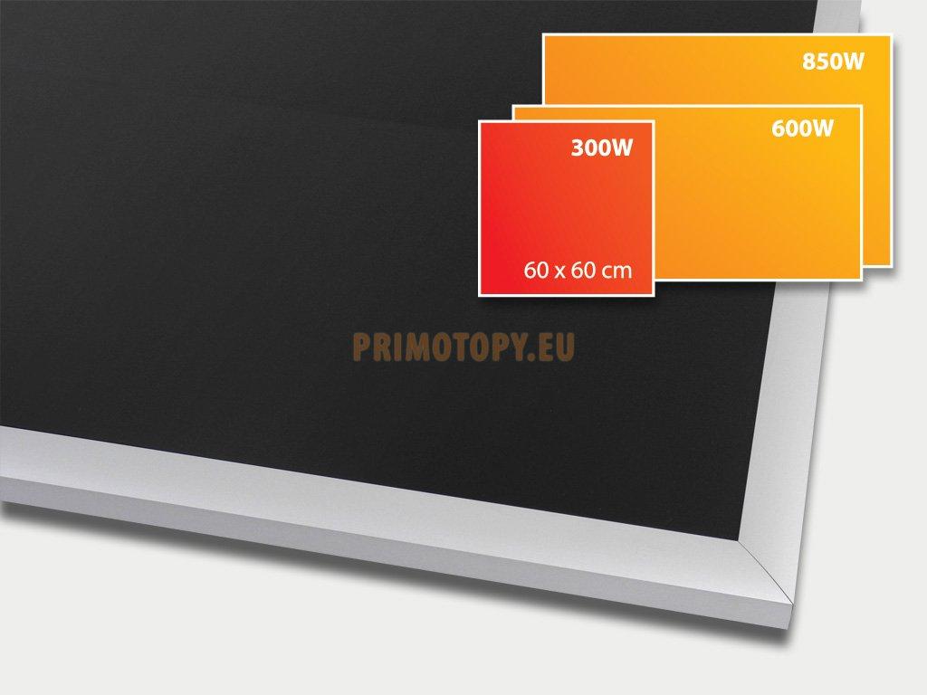 ECOSUN 300 G Black, sálavý skleněný panel 300 W