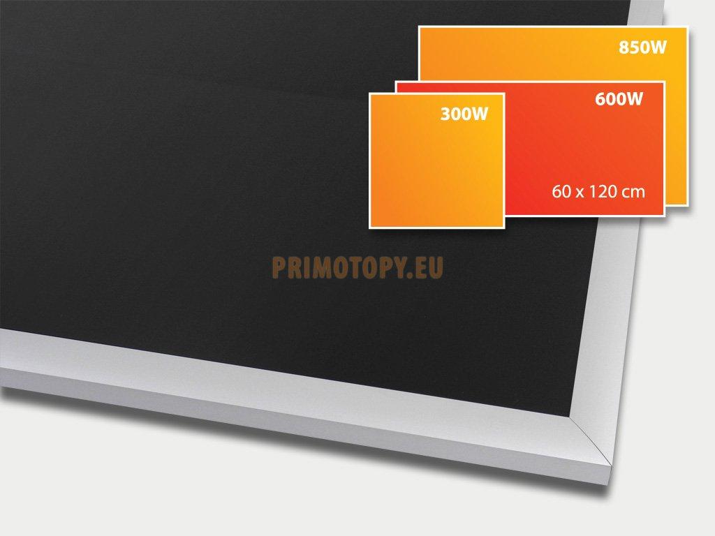 ECOSUN 600 G Black, sálavý skleněný panel 600 W