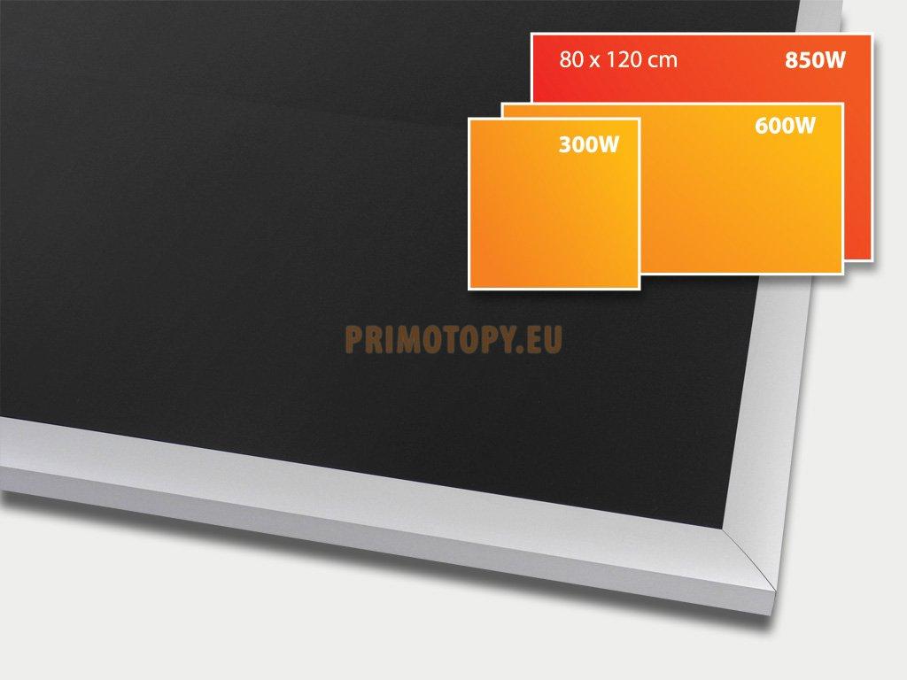 ECOSUN 850 G Black, sálavý skleněný panel 850 W