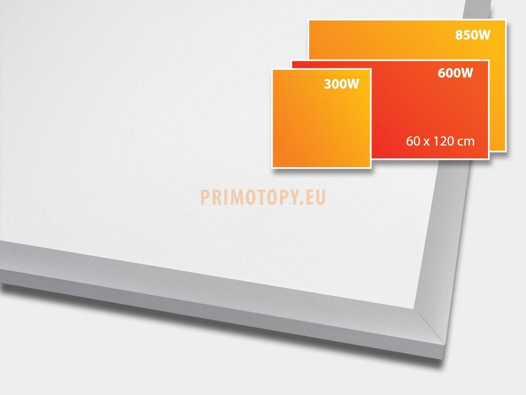 ECOSUN 600 E White, sálavý skleněný panel 600 W