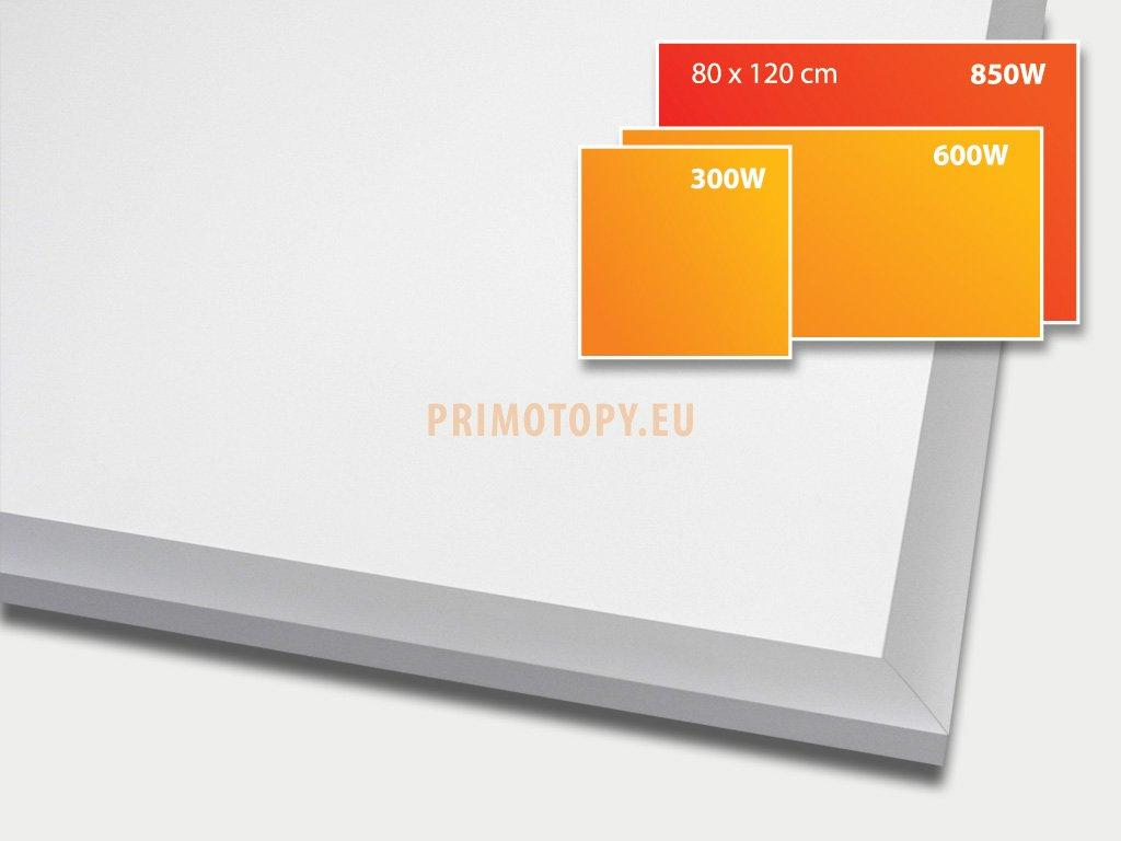 ECOSUN 850 E White, sálavý skleněný panel 850 W