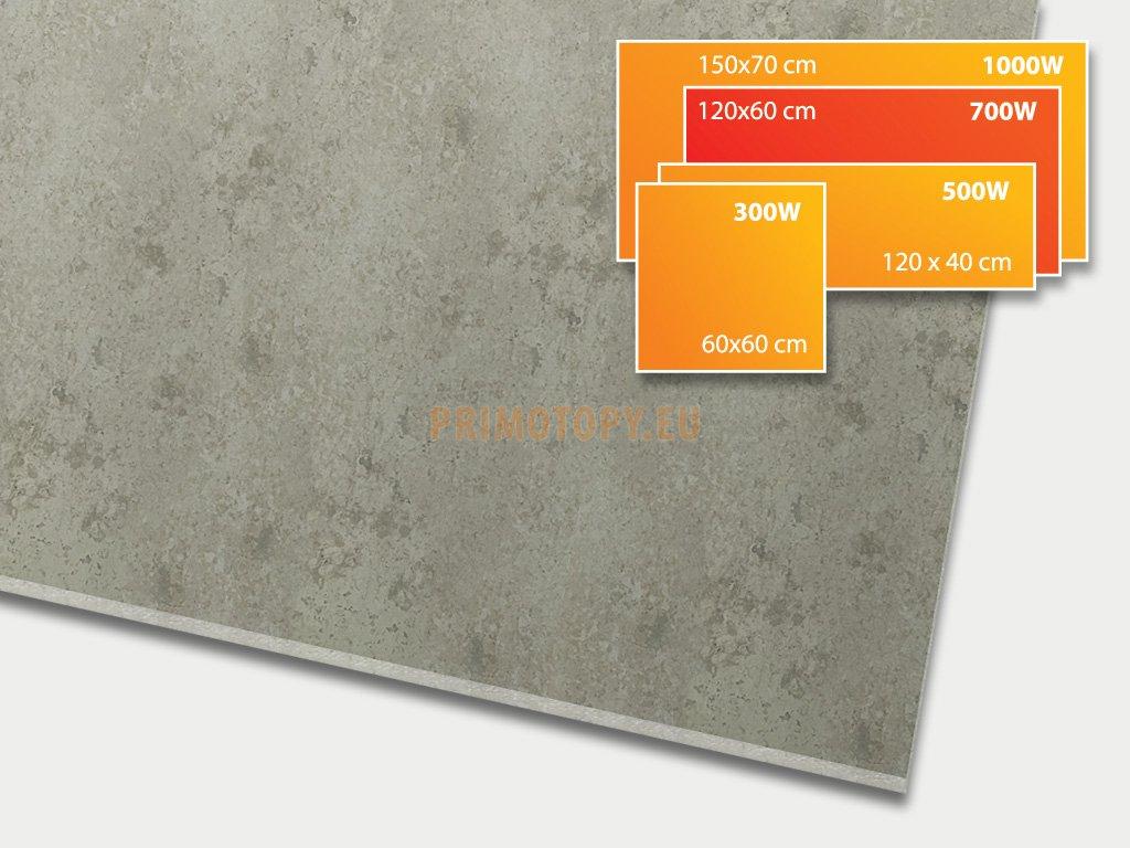 ECOSUN 700 CR Beton, keramický topný infrapanel 700 W