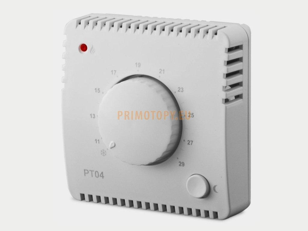 PT04 Termostat pro sálavé panely a automatickým útlumem teploty