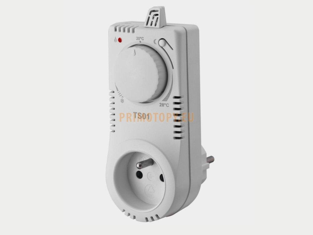 TS01 Zásuvkový termostat pro sálavé panely a automatickým útlumem teploty
