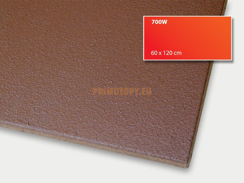 ECOSUN 700 IN-2 (hnědý) nízkoteplotní topný panel 700 W se zvýšeným krytím IP 65 + E Ex 2 průmysl
