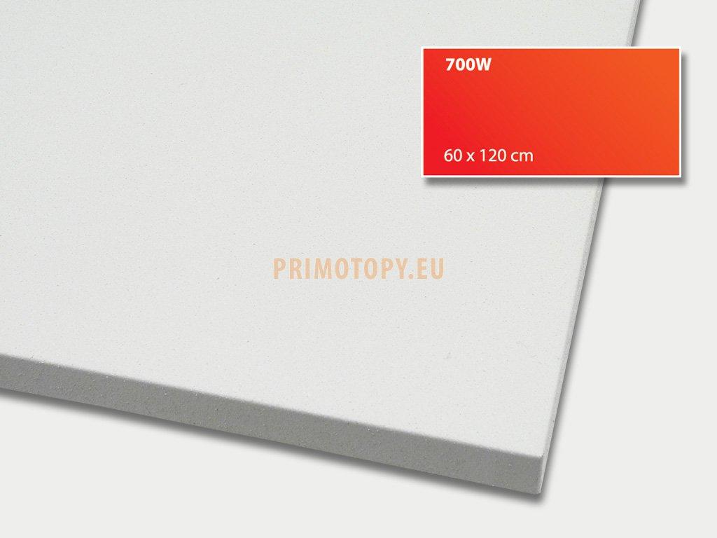 ECOSUN 700 IN (bílý) nízkoteplotní topný panel 700 W se zvýšeným krytím IP 66 průmysl
