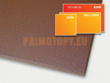 ECOSUN 850 U+ h sálavý topný panel 850W (hnědý)