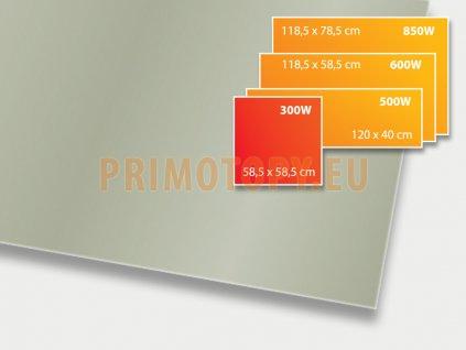ECOSUN 300 GS Basalt, sálavý skleněný panel 300 W