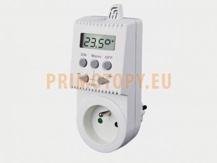 TS05 Zásuvkový termostat pro sálavé panely a topné žebříky bez časového programování