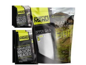 Adventure Menu Samoohřev SET 1xZipper Bag, 5x samoohřev 50g