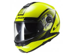 LS2 FF325 Strobe Civik HI-VIS yellow black vel. XXL