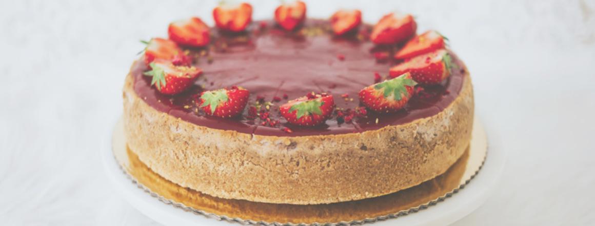 Ovocný cheesecake s jahodami od Princess Cakes