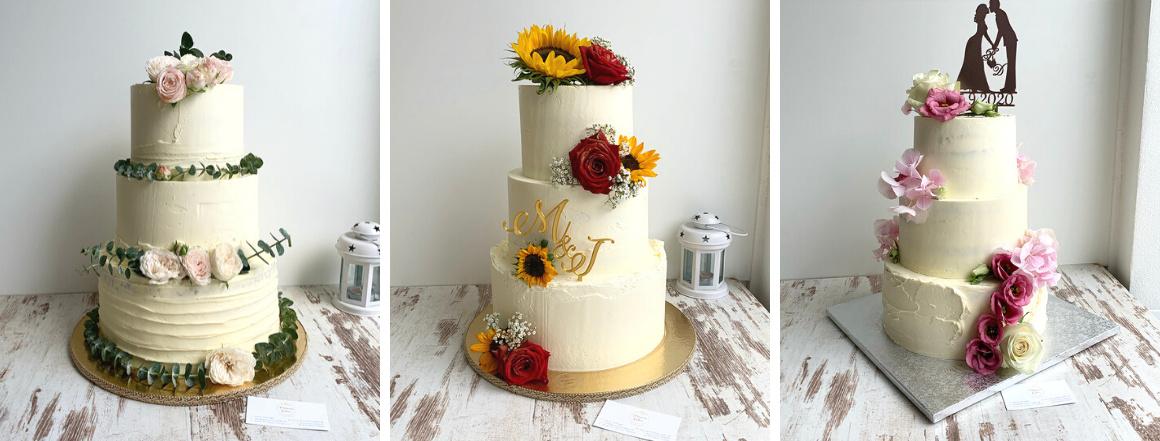 Trojposchodové svadobné torty Princess Cakes