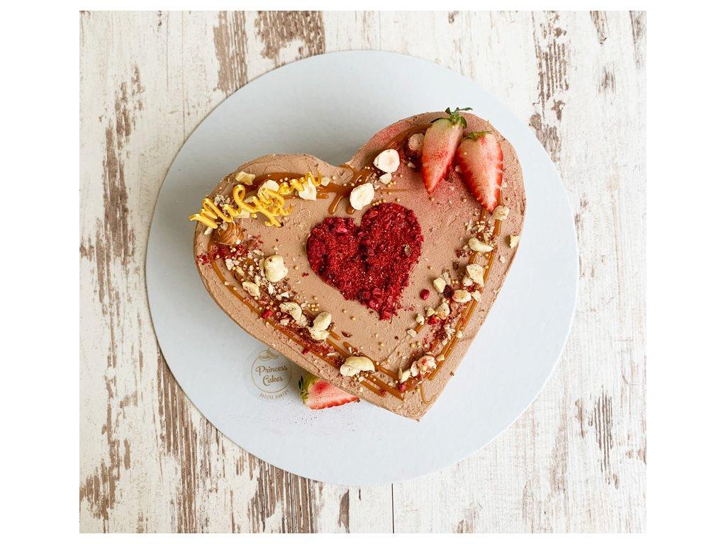 Mini torta srdce princess cakes trencin