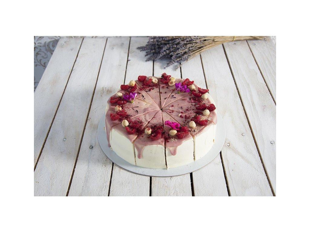 Lieskovcovo-malinová torta