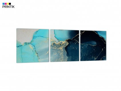 Obraz - Abstrakt panorama modrá