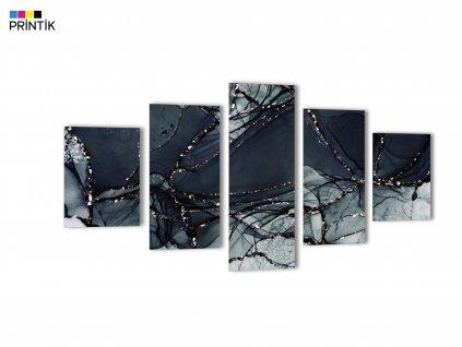 Obraz - Abstrakt panorama šedá bílá