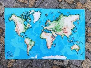 mapa světa textilní