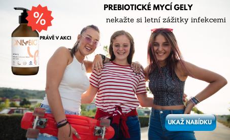 Prebiotické mycí gely