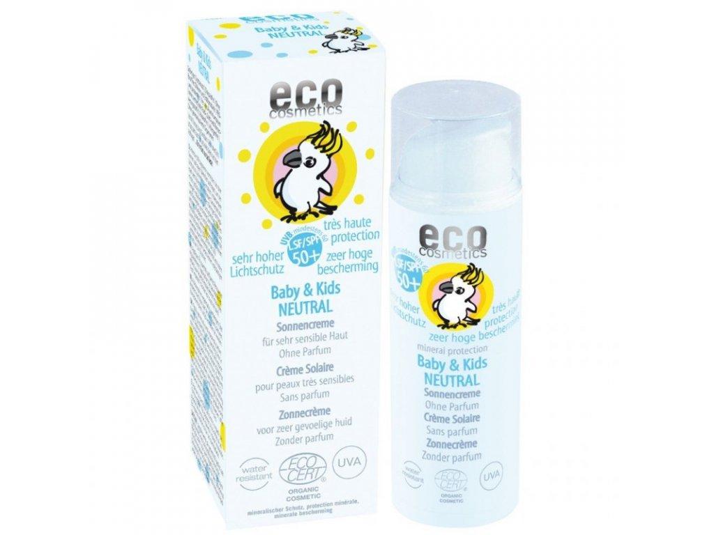 Eco Cosmetics Baby Dětský opalovací krém Neutral SPF 50+ BIO (50 ml)