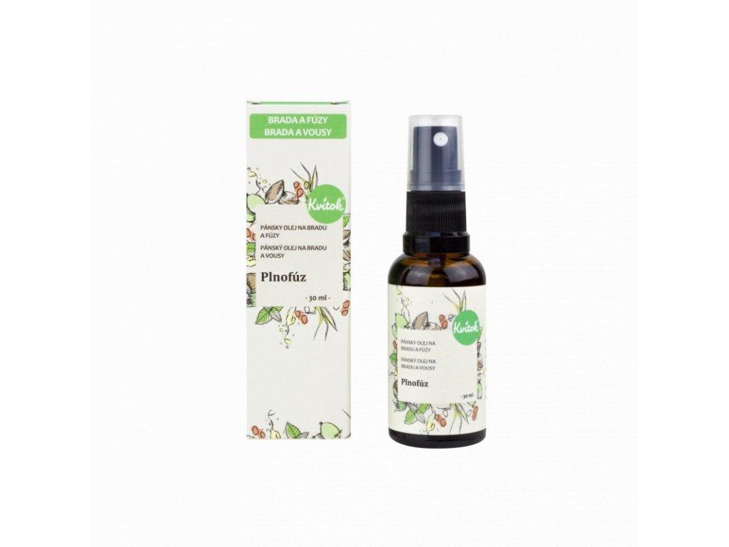 Kvitok Ošetřující olej na bradu a vousy Plnovous (30 ml) - se svěží vůní