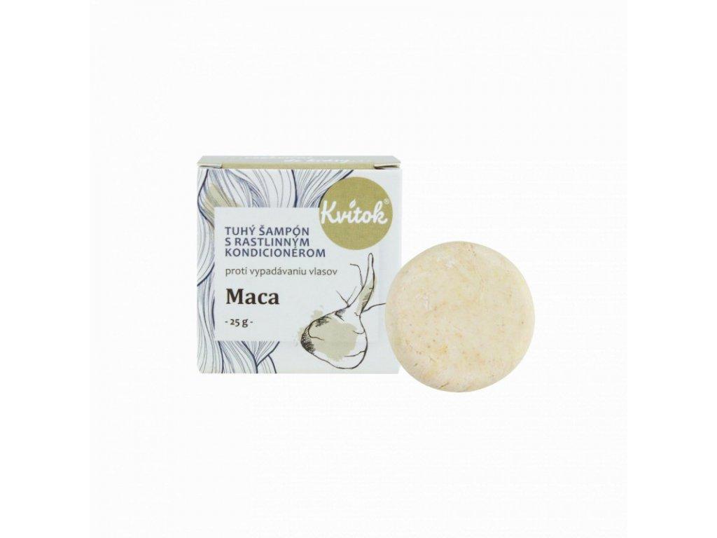 Kvitok Tuhý šampon s kondicionérem Maca (25 g) - stimuluje růst vlasů