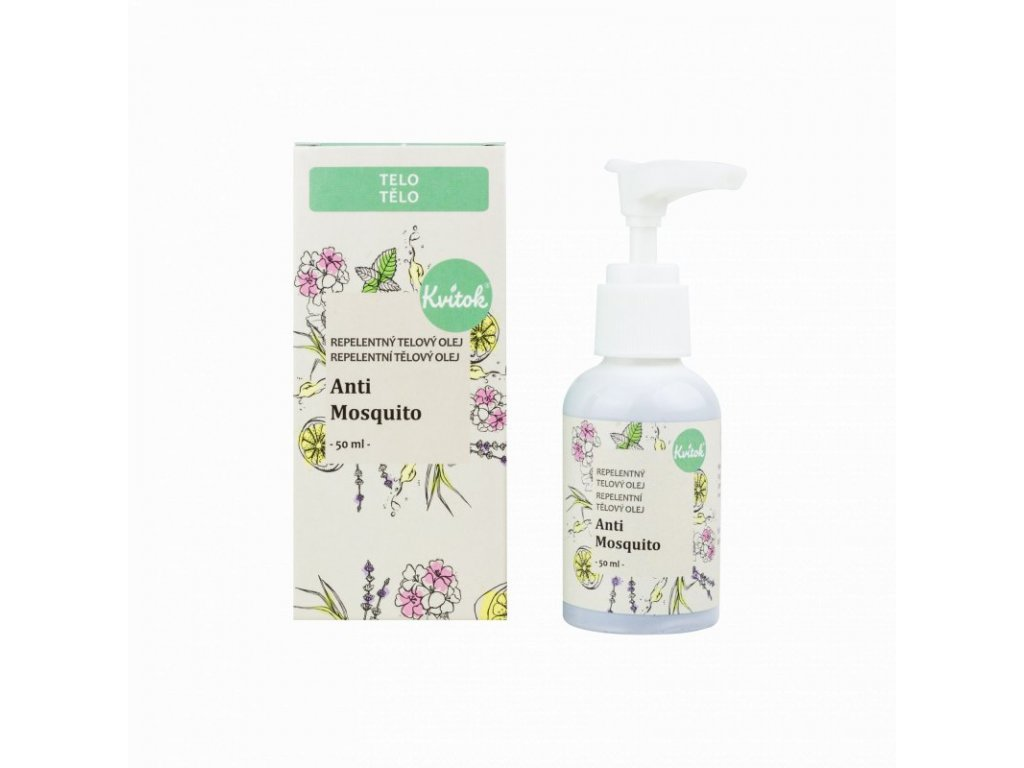 Kvitok Repelentní tělový olej Anti Mosquito (50 ml) - působí proti komárům a klíšťatům