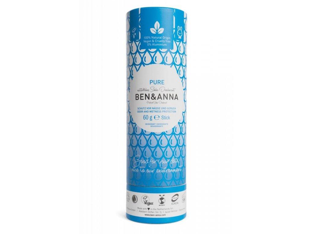 Ben & Anna Tuhý deodorant (60 g) - bez vůně - nezanechává lepivý pocit v podpaží