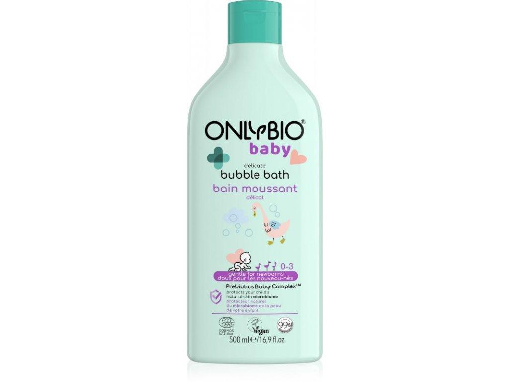 OnlyBio Jemná pěna do koupele pro miminka (500 ml)