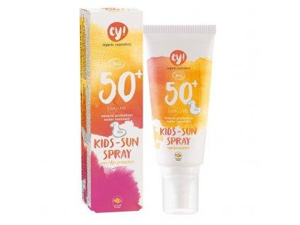 Ey! Opalovací krém ve spreji pro děti SPF 50+ BIO (100 ml) - 100% přírodní, s minerálními pigmenty