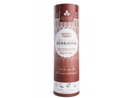 Ben & Anna Tuhý deodorant (60 g) - Severské dřevo - vůně vhodná pro muže