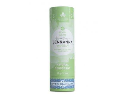 Ben & Anna Tuhý deodorant Sensitive (60 g) - Citrón a limetka
