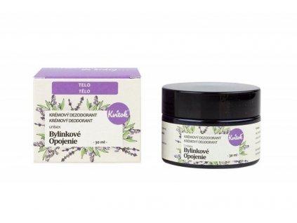 Kvitok Jemný krémový deodorant Bylinkové opojení (30 ml) - vhodný pro ženy i muže