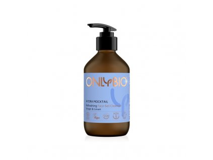 OnlyBio Osvěžující pleťový čisticí gel Hydra Mocktail (250 ml) - se zázvorem a levany