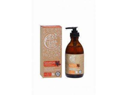 Tierra Verde Kaštanový šampon pro posílení vlasů s pomerančem (230 ml)