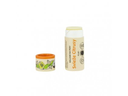 Kvitok Balzám na rty Svěží citrusy (8 ml) - dodává jemně chladivý pocit