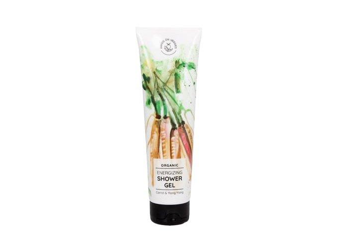 Hands on Veggies energizujíci sprchový gel Mrkev a Ylang-Ylang