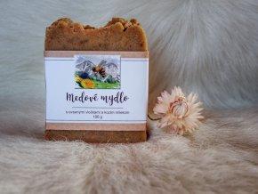 U šťastné včely Medové mýdlo s ovesnými vločkami a kozím mlékem